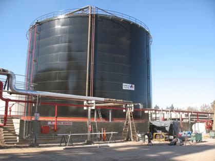 Instalaciones Fuel oil-Vapor-Incendios Nuevo Tanque 10.000m3